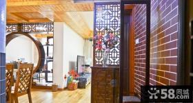 中式风格客厅玄关隔断效果图欣赏