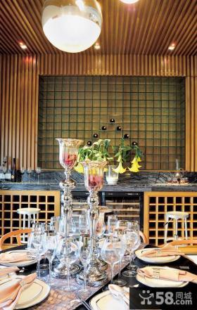 现代风格餐厅背景墙装修效果图欣赏