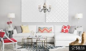 简欧式沙发背景墙装修效果图
