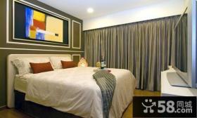 90平米小户型现代风格卧室装修效果图大全2014图片