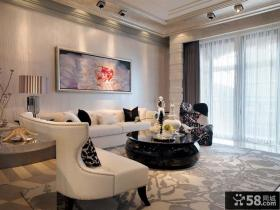 简欧风格别墅客厅装修效果图
