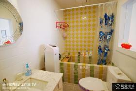 现代简约风格小卫生间浴室设计图