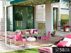 室外阳台家具摆放效果图片欣赏