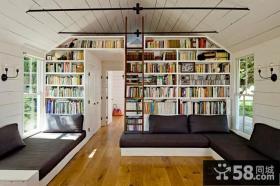 清新的美式风格客厅书房装修效果图