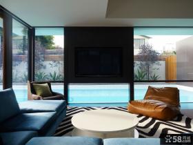 海岸别墅设计 现代时尚的飘窗装修效果图