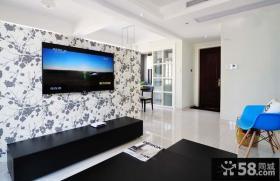 田园壁纸客厅电视背景墙设计