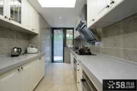 时尚家居别墅长厨房装修设计图片欣赏
