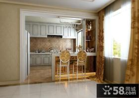 优质欧式厨房吧台装修设计效果图