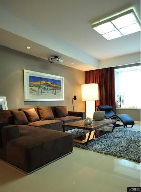 现代简约风格两室一厅客厅装修图片2014