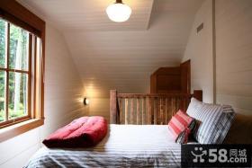 欧式田园风格阁楼卧室装修图片