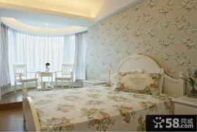 欧式卧室无纺布壁纸图片欣赏