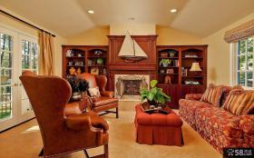 美式古典装修风格客厅图片