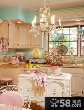 温馨欧式风格装修厨房设计效果图