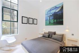 简约到极致的美式风格卧室装修效果图大全2012图片