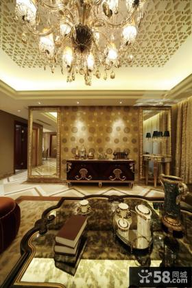 中式新古典风格天花板效果图