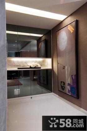现代烤漆鞋柜玄关装修设计