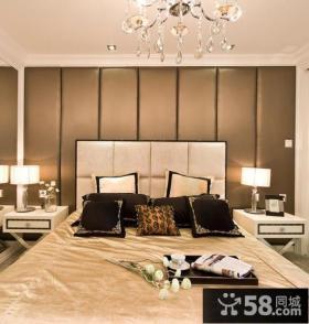 卧室床头硬包背景墙装修效果图大全图片