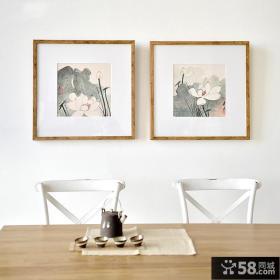 时尚餐厅中式壁画贴图设计