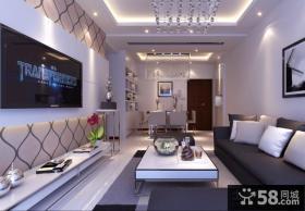 现代小客厅电视背景墙装修效果图片欣赏