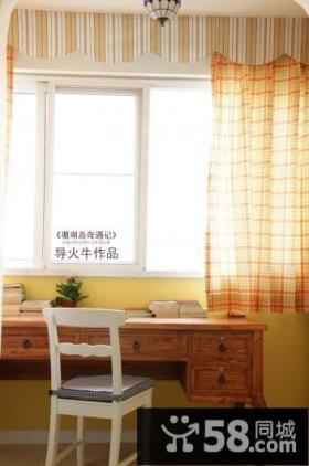 阳台书房装饰效果图