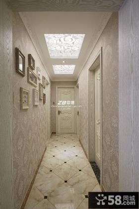 欧式家装卧室过道吊顶装修设计