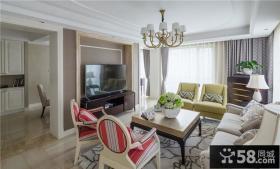 美式简约别墅室内装修设计效果图
