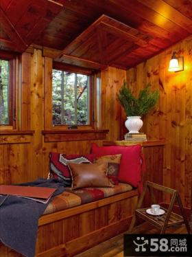 美式风格小卧室窗户图片