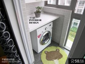 阳台洗衣机效果图片大全
