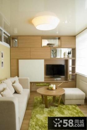 现代小户型80-平米两室两厅装修效果图