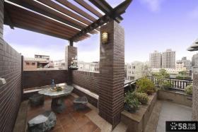 复古家庭设计阳台图片