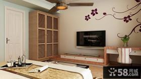 现代风格室内卧室电视背景墙装修效果图大全2014图片