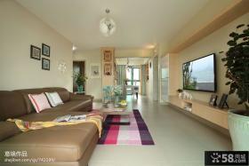 现代简约风格客厅电视机背景墙效果图欣赏