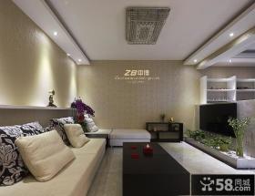 现代风格客厅吊顶设计效果图
