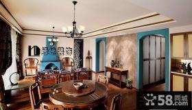 地中海风格餐厅装修设计图片