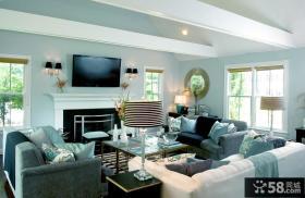 简约风格客厅电视墙设计图
