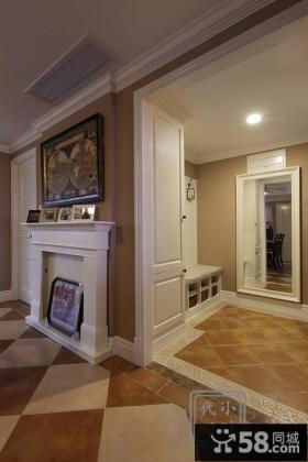 后现代120平米三居室效果图