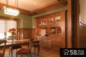 19万打造绝美中式风格餐厅橱柜装修效果图大全2012图片