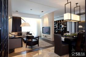 现代风格小户型室内灯具装修图