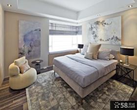 现代主卧室飘窗装修设计效果图