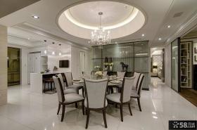 现代风格三室两厅餐厅效果图