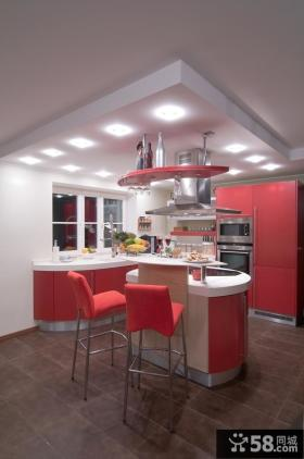 开放式厨房小吧台