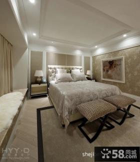 欧式风格室内主卧室装修效果图大全2013图片