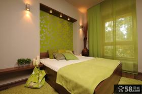 卧室装修绿色墙纸图片大全