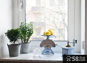 简欧风格家庭飘窗台装修设计