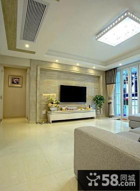 简欧设计豪华客厅电视背景墙
