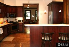 美式厨房橱柜设计图片