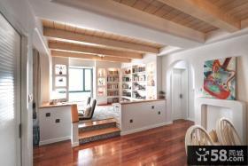 现代简约时尚风格书房设计效果图