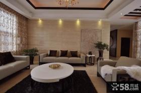 现代中式风格客厅沙发背景墙效果图