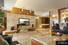 大客厅电视背景墙简约装修