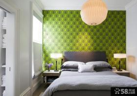 简约小卧室墙纸装修设计图